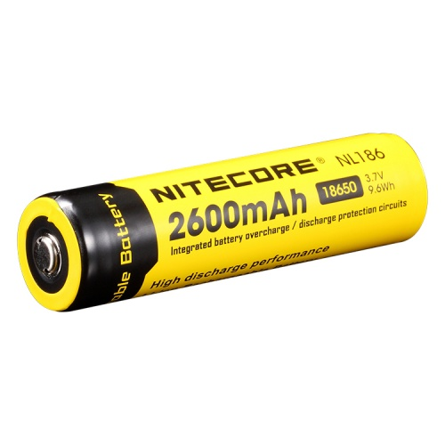 Nitecore 18650 3.7 V, 2600 mAh Li-ion Protected Battery