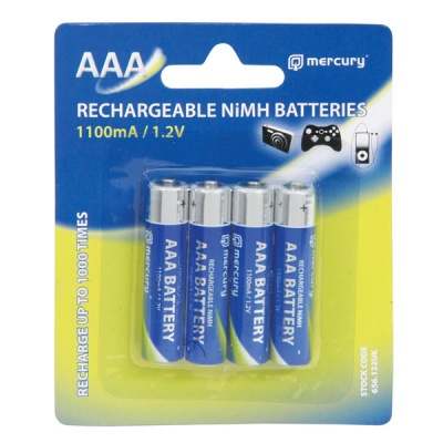 Rechargeable AAA NiMH 1100mAh Batteries