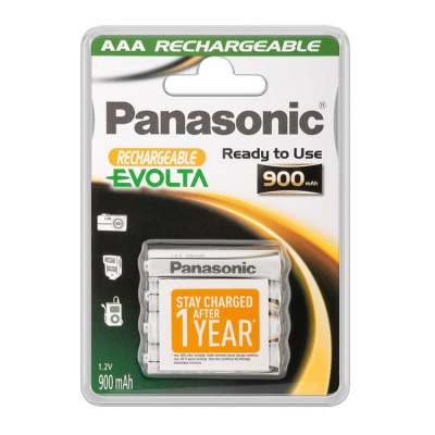 Panasonic Evolta Rechargeable AAA NiMH Batteries