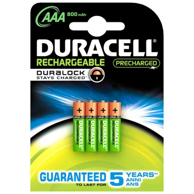 Duracell Recharge Ultra AAA 800 mAh NiMH Batteries