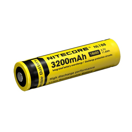 Nitecore 18650 3.7 V, 3200 mAh Li-ion Protected Battery