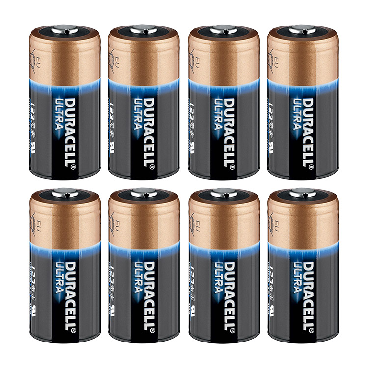 duracell ultra cr123a 3 volt lithium battery pack of 8. Black Bedroom Furniture Sets. Home Design Ideas