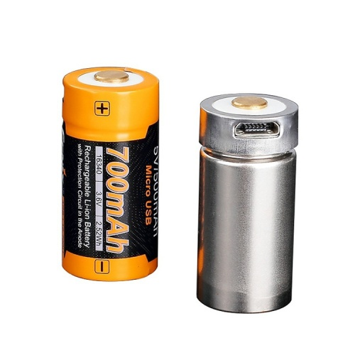 Fenix 16340 USB Rechargeable High Discharge 700 mAh Li-ion Protected Battery