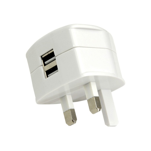 Dual USB Mains Adaptor (2 x 1200 mA Output)