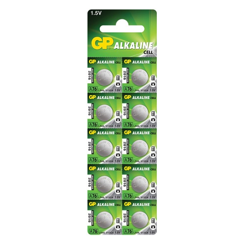 A76 / AG13 / LR44 Alkaline Battery (Pack of 10)