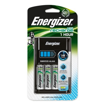 Energizer 1 Hour Charger With Four AA 2300 mAh NiMH Batteries