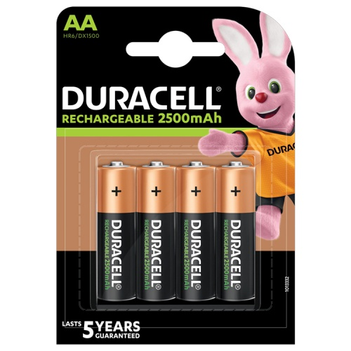 Duracell Rechargeable AA 2500 mAh NiMH Batteries