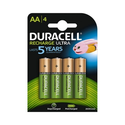 Duracell Recharge Ultra AA 2500 mAh NiMH Batteries