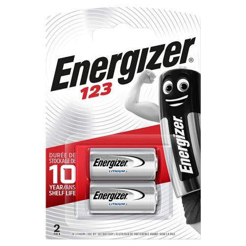 Energizer CR123A 3 Volt Lithium Battery (Pack of 2)