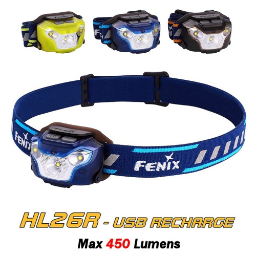 Fenix HL26R Rechargeable Trail Running LED Head Torch