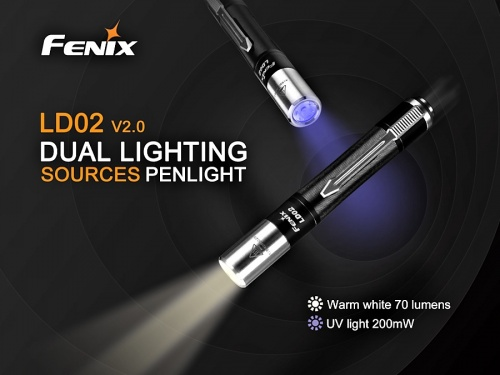 Fenix LD02 V2.0 White Light and UV LED Torch