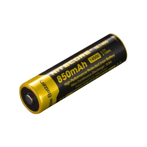 Nitecore 14500 3.7 V, 850 mAh Li-ion Protected Battery