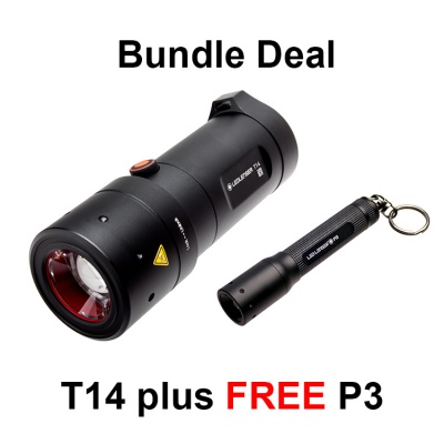 LED Lenser T14 LED Torch + Free LED Lenser P3BM LED Torch