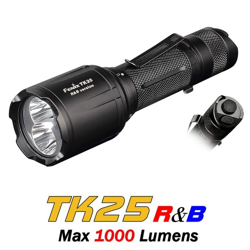 Fenix TK25 R&B White, Red and Blue Light LED Torch