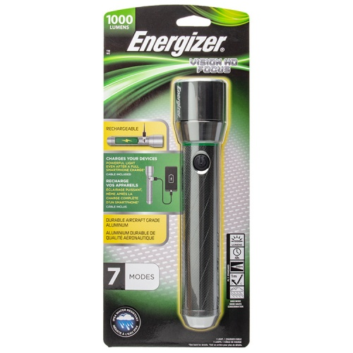 Energizer Vision HD Focus Metal Rechargeable LED Torch
