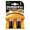Duracell Plus Power AAA Alkaline Batteries - 4 Pack