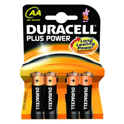 Duracell Plus Power AA Alkaline Batteries (Pack of 4)