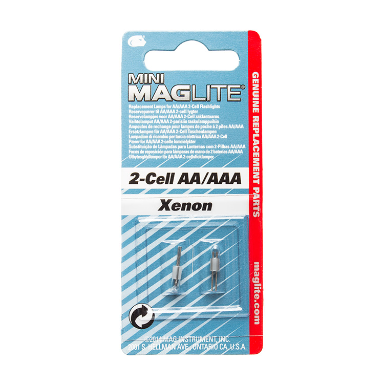 Maglite Replacement Lamps for 2-Cell AAA Mini Flashlight 2-Pack