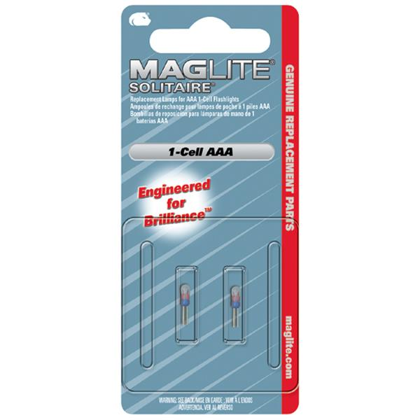 Maglite Solitaire 1 Cell Aaa Bulb 2 Pack