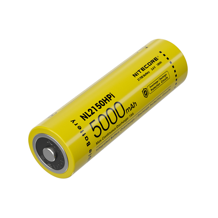 Nitecore 21700 5000 mAh 15 A High Discharge Lithium-ion Protected Battery (NL2150HPi)