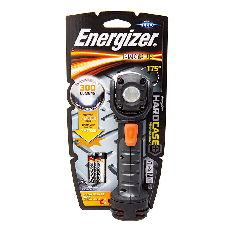 Energizer Hard Case Pivot Plus 2 AA LED Torch