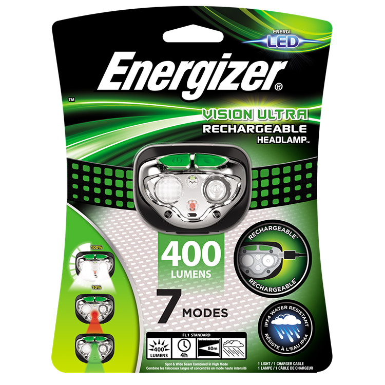 Energizer Vision Ultra Rechargeable LED Head Torch