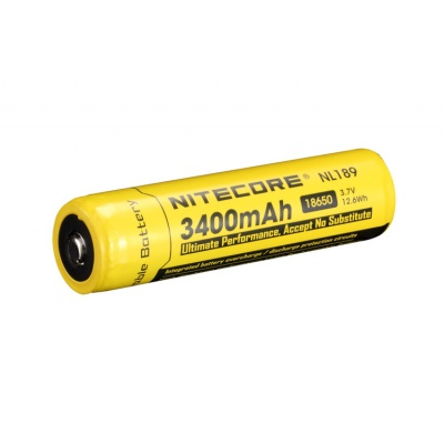 Nitecore 18650 3.7 V, 3400 mAh Li-ion Protected Battery